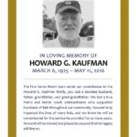 In Loving Memory of Howard G. Kaufman